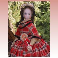 ~~~ French Bisque Poupee in fine Original Costume ~~~