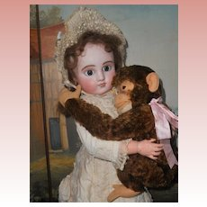 ~~~ Rare French Bisque Bebe Steiner Figure C with Lever Eyes ~~~
