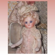 ~~~ Lovely French Type All Bisque Mignonette in nice Costume ~~~