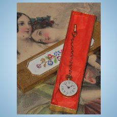 ~~~ Nice Poupee French Faux-Watch in Box ~~~