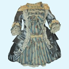 ~~~ Superb French Silk and Muslin Bebe Dress ~~~