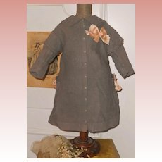 ~~~ French Bebe Antique Pique Coat Dress in Rare Color ~~~