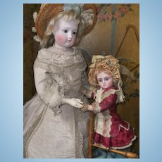 ~~~ Rare Small French Factory Original Bisque Bebe Series C Steiner with Lever Eyes ~~~