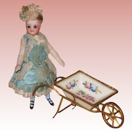 ~~~ Lovely Rare Antique Wheelbarrow for French Mignonette ~~~