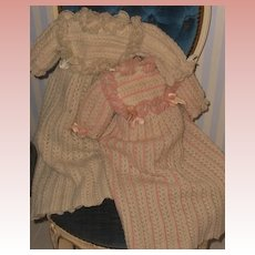 ~~~All Original Rare early Wool Knit Costume for French Jumeau Bebe ~~~