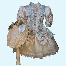~~~ French Silk Bebe Costume with Bonnet ~~~