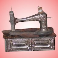 ~~~ Rare French Poupee Sewing Machine with Accessory / 19th. century  ~~~