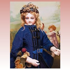 ~~~ Outstanding French Bisque Poupee by Jumeau in Superb Costume ~~~