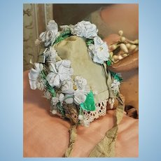 ~~~ Lovely Silk Bonnet for French Poupee or Small Bebe ~~~