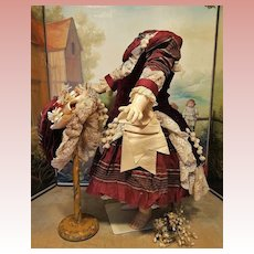 ~~~ Superb French Bebe Costume with Bonnet ~~~