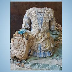 ~~~ Superb French Bebe Silk Costume with Bonnet ~~~