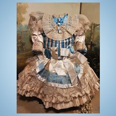 ~~~ Superb French Silk Bebe Costume one of a Kind ~~~