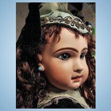 ~~~ Superb French Bisque Bebe by Jumeau in Fantastic Party Costume ~~~