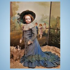 ~~~RESERVED //  Beautiful French Poupee By Jumeau with Gorgeous Antique Costume ~~~