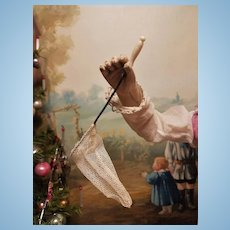~~~ HOLd for E. // Rare 1868 / 70 French Poupee Butterfly Net ~~~