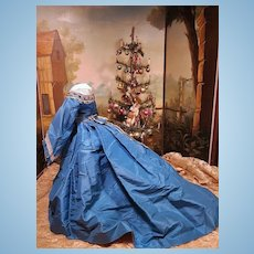 ~~~ Stunning Antique Poupee Evening Silk Gown ~~~