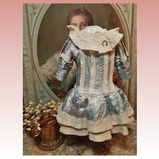 ~~~ Nice Vintage Silk Doll Dress ~~~