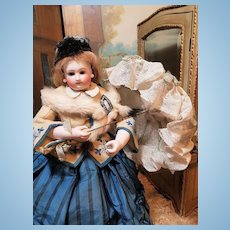 ~~~ Nice Homemade Vintage French Poupee Parasol ~~~