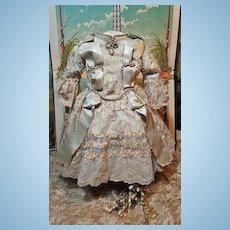 ~~~ Outstanding French Silk and Lace Bebe Costume ~~~