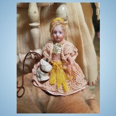 ~~~Sweet Factory Original Tiny Bisque Mignonette with her Puppy ~~~