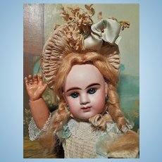 ~~~RESERVED //  Lovely French Bisque Bebe Girl by Denamur ~~~