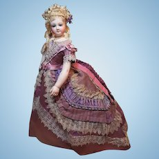 ~~~ Graceful French Bisque Poupee with Marvelous original Ball Gown  ~~~