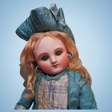 ~~~ Rare Early Series A French Bisque Bebe by Jules Steiner with Fancy Costume ~~~