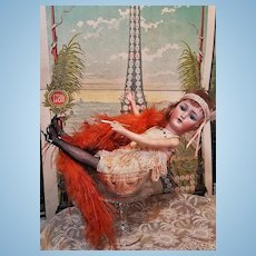 ~~~ Very Rare German Bisque Teen Flapper Girl by Simon & Halbig in Lovely Costume ~~~