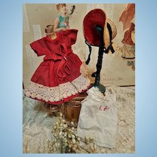 ~~~ Nice size 1 or 2 Simple 3 Piece Antique Bebe Costume ~~~