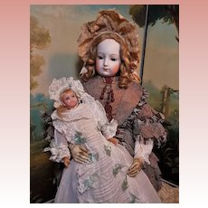 ~~~ Lovely English Poured Wax Baby Doll all Original ~~~
