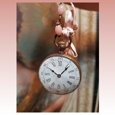 ~~~ Pretty French Doll Faux-Watch  / 1880 ~~~