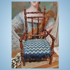 ~~~ Beautiful early French Wooden Salon Arm Chair / 1875 ~~~