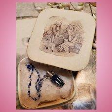 ~~~ Beautiful Antique Poupee Perfume Bottle Necklace  / circa 1880 / 85 ~~~