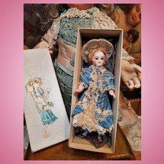 ~~~Pretty French All-Bisque Mignonette with Original Costume in Box ~~~