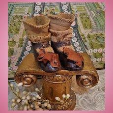 ~~~ Early mark Emile Jumeau Bebe Shoes with Stocking ~~~