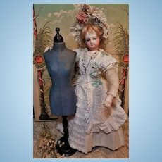 ~~~ Rare Antique French Poupee Doll Bust circa 1865 / 70 ~~~