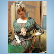 ~~~ Rare French Wax Fashion Doll by Lafitte - Desirat ~~~