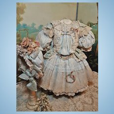~~~ Very Beautiful French Bebe Costume with Bonnet ~~~