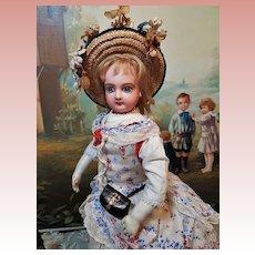 ~~~Pretty French Bisque Poupee in fine Original Costume ~~~