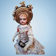 ~~~Pretty French Bisque Poupee in fine Original Costume ~~~