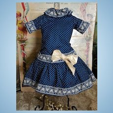 ~~~ Lovely Antique French Cotton Dress ~~~