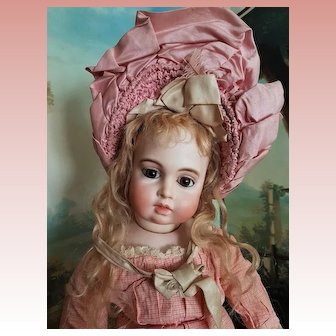 ~~~  Lovely French Bisque Bebe by Leon Casimir Bru with Circle / Dot Markings ~~~