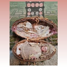 """~~~ Lovely """" Oeuf de Paques """" Mignonette Presentation from Etrennes circa 1895 ~~~"""
