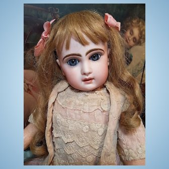~~~ Lovely French Bisque Bebe by Jumeau Attic Condition ~~~