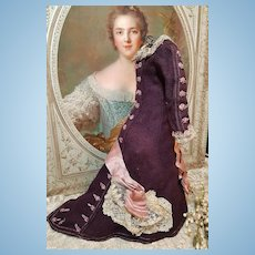 ~~~ Lovely Antique French Soft Wool Poupee Costume circa 1885 ~~~