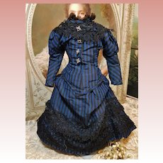 ~~~ Lovely Home Made French Silk Poupee Dress ~~~