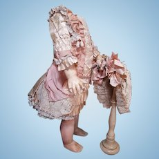 ~~~ Stunning French Bebe Silk Costume with Bonnet ~~~