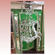 ~~~ Magnificent 19th. Century Luxury Miniature Glass Chandelier ~~~