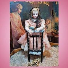 ~~~ Rare Wooden Prayer Doll´s Chair / France circa 1875 ~~~