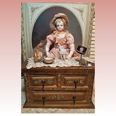 ~~~ Lovely Gild & Hand Painting Chest of Drawers / France 19th. Century ~~~